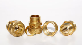 Details for waterpipe and plumbing. Metal details for waterpipe and plumbing Stock Image