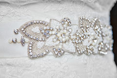 Details of wedding dress Royalty Free Stock Photography