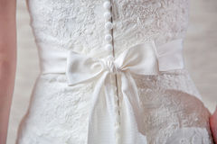 Details of wedding dress Royalty Free Stock Photo