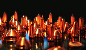 Details for welding with mig-mag method. Special copper tips for welding mig-mag  method Stock Photography