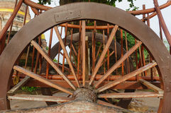 Details of the wheel buckboard Royalty Free Stock Photography