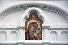 Details of the white church Stock Photography
