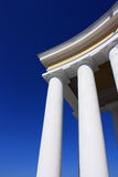 Details of white columns Stock Images