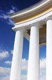 Details of white columns Stock Image
