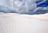 Details of white sand and clouds. Sand Dunes at Wedge Island Western Australia stock photos