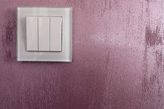 Wall light switch Stock Photos