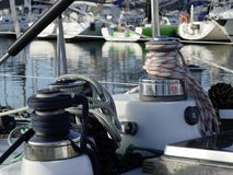 Sailing boat details Royalty Free Stock Photo