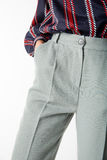 Details of women`s clothing. Women`s pants model Royalty Free Stock Image