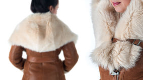 Details of womens winter clothing Royalty Free Stock Photography