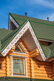 Details of wooden country house Royalty Free Stock Image