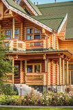 Details of wooden country house Royalty Free Stock Photo