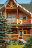 Details of wooden country house Stock Photos