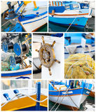 Details of wooden fishing vessels Royalty Free Stock Photos