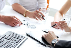 Details of working process at business meeting Royalty Free Stock Photography
