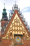Details of Wroclaw city hall Stock Images