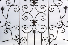 Details wrought iron fence Stock Image
