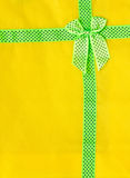 Details on yellow cloth. Stock Photos