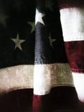 Detailschmutz der amerikanischen Flagge Stockfotos