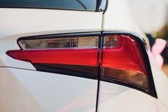 Detailschoonheid en snelle auto met koplamp royalty-vrije stock afbeeldingen