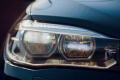 Detailschoonheid en snelle auto met koplamp royalty-vrije stock afbeelding
