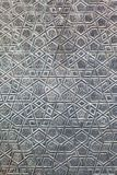 Detailsdeur van de Blauwe Moskee Stock Foto's