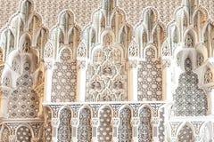 Detailskoning Hassan II Moskee, Casablanca Stock Afbeeldingen