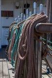 Detailsmateriaal van schip op dek Royalty-vrije Stock Foto's