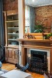 Detailteilansicht des Wohnzimmers Stockfotos
