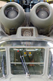 Detailturbinenhubschrauber Aerospatiale ALS Superpuma 332B1 Lizenzfreie Stockfotografie