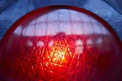 Detailwarnung des roten Lichtes des Bahnhofsverkehrs Lizenzfreies Stockfoto