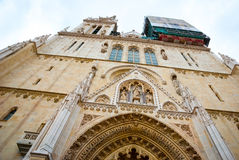 Detal of Zagreb cathedral, Croatia Royalty Free Stock Image