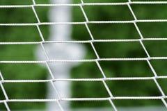 Detalha esportes da esfera de futebol da cena Fotografia de Stock