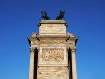 Detalha o arco da paz, Milão Fotos de Stock