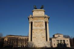 Detalha o arco da paz, Milão Imagem de Stock