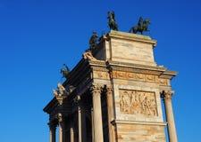 Detalha o arco da paz, Milão Imagens de Stock