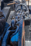 Detalha o equipamento do navio na plataforma Imagem de Stock
