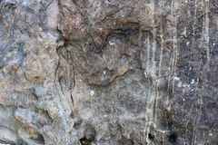 Detalhado perto acima da superfície do granito e os muros de cimento e os assoalhos fotografia de stock