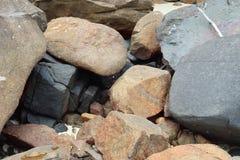 Detalhado perto acima da superfície do granito e os muros de cimento e os assoalhos foto de stock royalty free