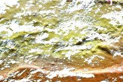 Detalhado perto acima da superf?cie da casca colorida pulverizou a pintura em muros de cimento resistidos fotos de stock royalty free