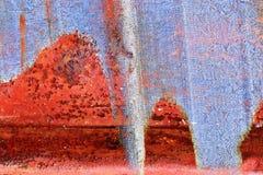 Detalhado perto acima da textura de superf?cies de metal oxidadas marrons e brancas na alta resolu??o fotos de stock
