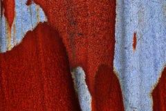 Detalhado perto acima da textura de superf?cies de metal oxidadas marrons e brancas na alta resolu??o imagens de stock royalty free
