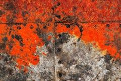 Detalhado perto acima da textura de superf?cies de metal oxidadas marrons e brancas na alta resolu??o fotografia de stock