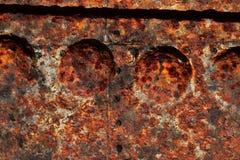 Detalhado perto acima da textura de superf?cies de metal oxidadas marrons e brancas na alta resolu??o fotografia de stock royalty free