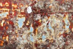 Detalhado perto acima da textura de superf?cies de metal oxidadas marrons e brancas na alta resolu??o imagens de stock