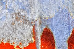 Detalhado perto acima da textura de superf?cies de metal oxidadas marrons e brancas na alta resolu??o fotos de stock royalty free