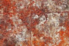 Detalhado perto acima da textura de superf?cies de metal oxidadas marrons e brancas na alta resolu??o foto de stock royalty free