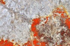 Detalhado perto acima da textura de superf?cies de metal oxidadas marrons e brancas na alta resolu??o imagem de stock