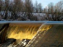Detalhe 1 do Weir Fotografia de Stock