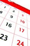 Detalhe 2 do calendário Imagem de Stock Royalty Free
