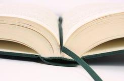 Detalhe aberto do livro fotografia de stock